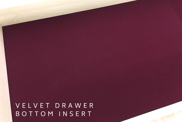 VELVET DRAWER BOTTOM INSERT